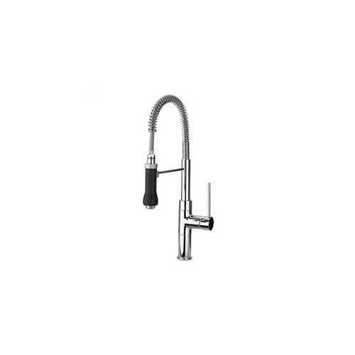 Elba Magnetic Single Handle Single Hole Bar Faucet with Pull Out Spray