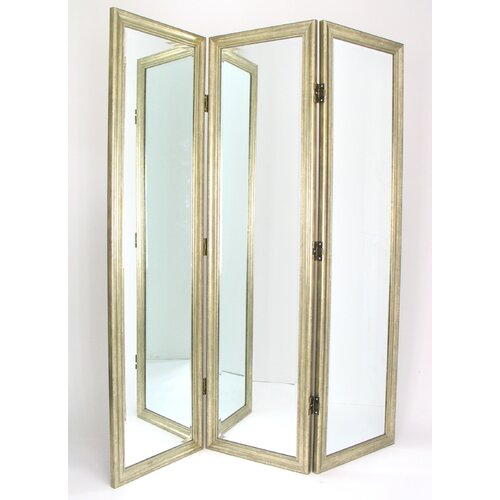 "Wayborn 72"" x 60"" Full Size Dressing 3 Panel Room Divider"