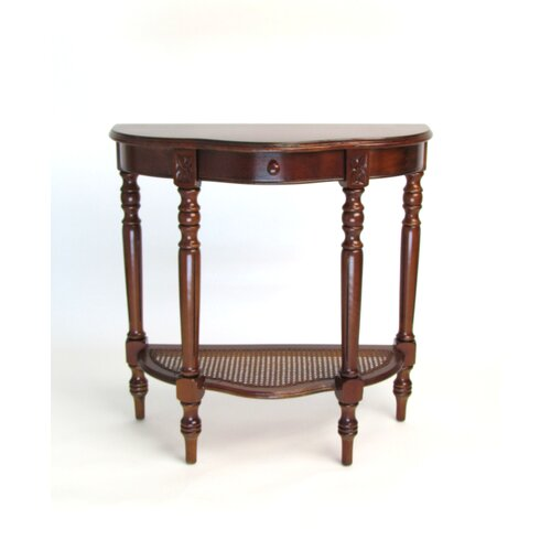 wayborn demi lune console table reviews wayfair. Black Bedroom Furniture Sets. Home Design Ideas
