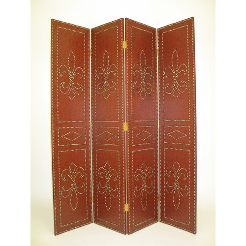 "Wayborn 72"" x 64"" Saloon Styled 4 Panel Room Divider"