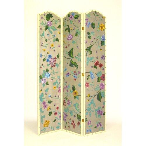 "Wayborn 72"" x 48"" Vibrant Floral 3 Panel Room Divider"