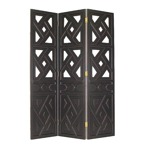 "Wayborn 72"" x 54"" Geometric 3 Panel Room Divider"