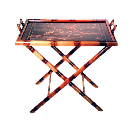 Hand Painted Bamboo Serving Table Tray