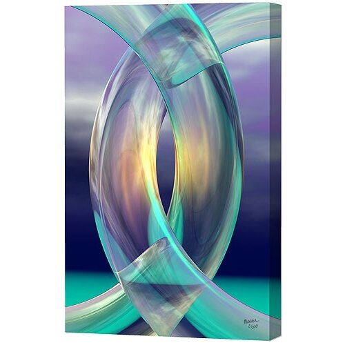 Menaul Fine Art Aqua Rings Limited Edition by Scott J. Menaul Graphic Art on Canvas