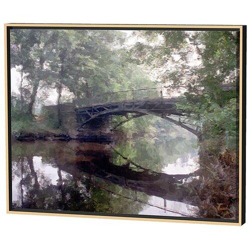 Menaul Fine Art Natick Bridge Limited Edition by Scott J. Menaul Framed Painting Print