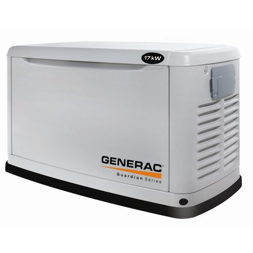 Guardian 17 Kw Air-Cooled Single Phase 120/240 V Natural Gas Propane Standby Generator in Steel ...