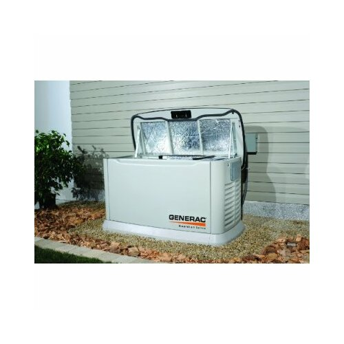 Generac Guardian 8 Kw Liquid-Cooled Single Phase 120/240 V Natural Gas Propane Standby Generator with Transfer Switch in Steel Enclosure
