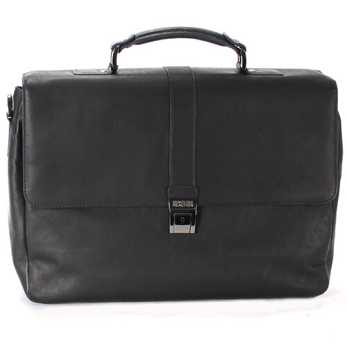 "Kenneth Cole Reaction Colombian Leather ""Flap-ped A Photo"" Briefcase"