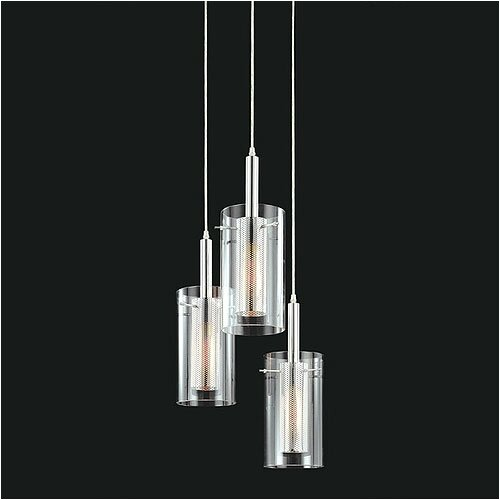 Zylinder Contemporary 3 Light Foyer Pendant