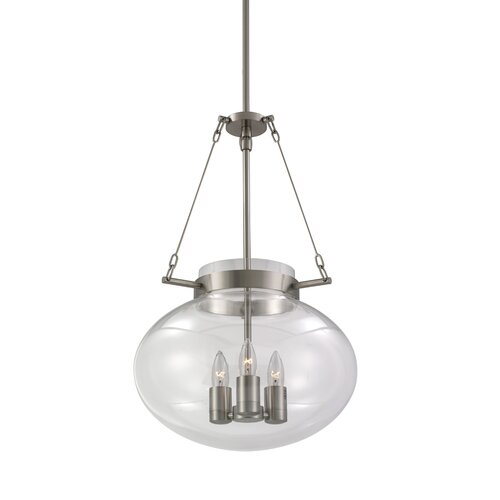 Sonneman Venezia 3 Light Foyer Pendant