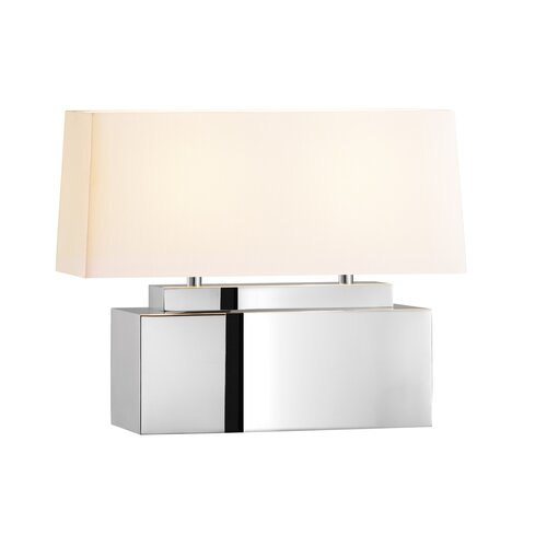 Mirror Bankette 1625 H Table Lamp With Rectangular Shade