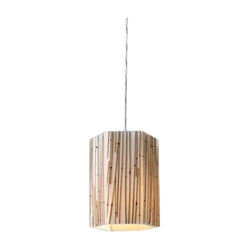 Modern Organics 1 Light Drum Pendant
