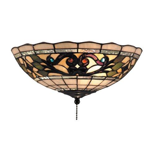 Titan Lighting Tiffany Buckingham 4 Light Ceiling Mount: Meyda Tiffany Jadestone Carousel 3 Light Ceiling Fan Light