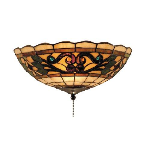 Titan Lighting Tiffany Buckingham 4 Light Ceiling Mount: Fabric Shade Ceiling Fan Light Kits