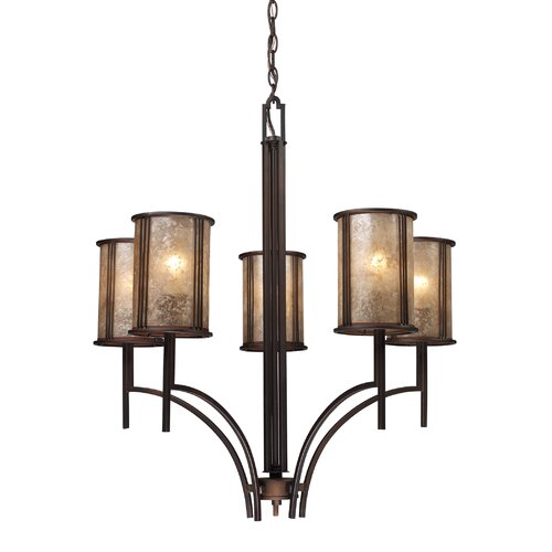 Elk Lighting Barringer 5 Light Chandelier and Shade