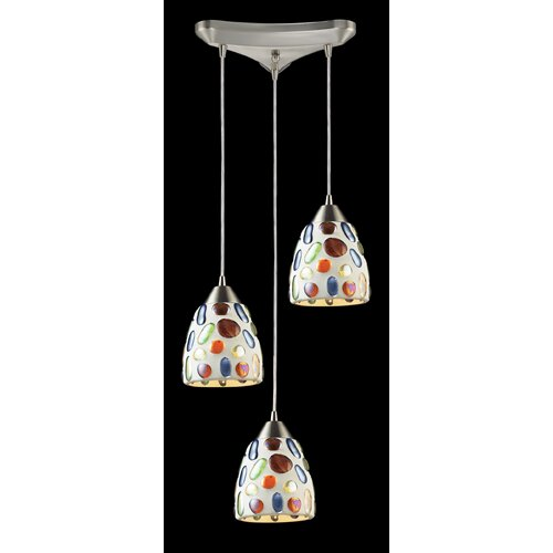Elk Lighting Gemstone 3 Light Pendant