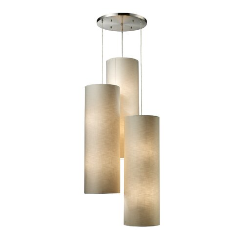 Fabric Cylinders 12 Light Pendant