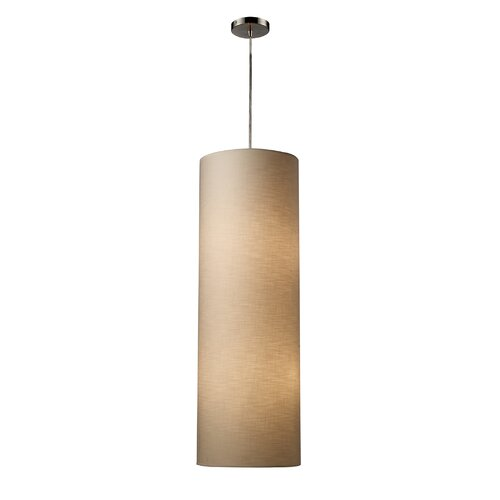 Fabric Cylinders 4 Light Pendant