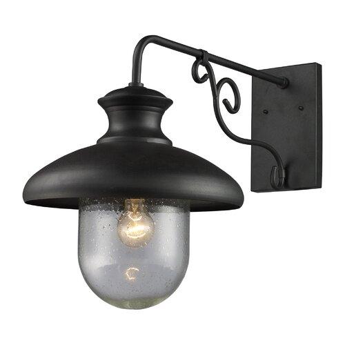 Elk Lighting Streetside Cafe 1 Light Outdoor Wall Lantern