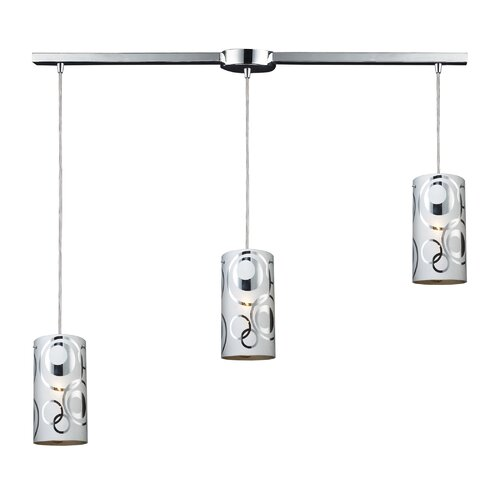 Elk Lighting Chromia 3 Light Linear Pendant