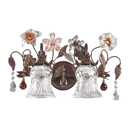 Elk Lighting Cristallo Fiore 2 Light Vanity Light