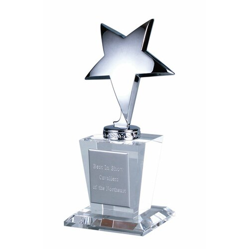 Chass Silver Star Glass Trophy Award