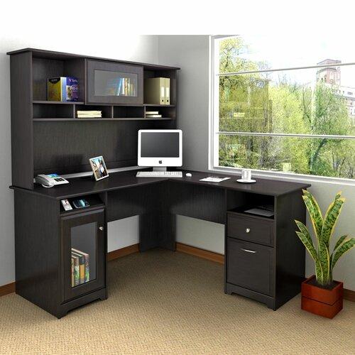 Bush Industries Cabot L Shape Computer Desk Office Suite
