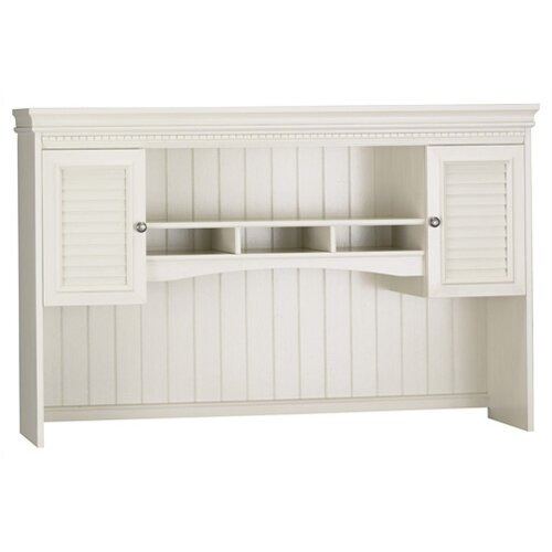 Fairview Hutch for L Desk in Antique White