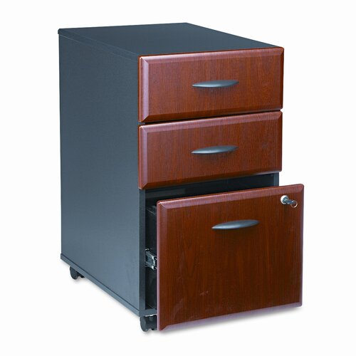 Bush Industries Series A 3-Drawer Mobile Pedestal