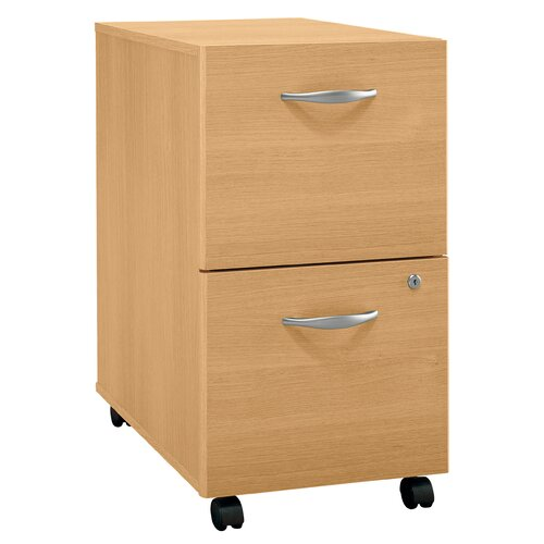 Bush Industries Series C 2-Drawer Mobile  Filing Cabinet