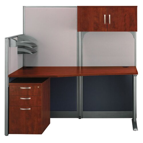Bush Industries Office-in-an-Hour Straight Computer Workstation with Storage