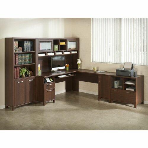 Bush Industries Achieve L-Shape Desk Office Suite