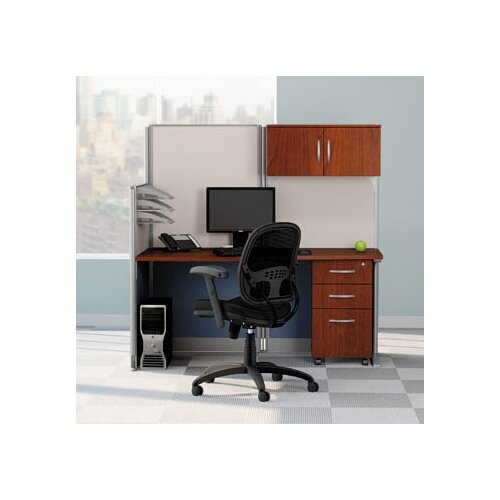 "Bush Industries Office-in-an-Hour 65"" W Straight Workstation"