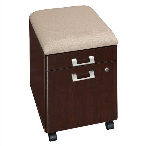 Bush Industries Quantum 2-Drawer Mobile Pedestal with Cushion