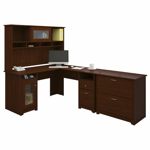 bush cabot 3 piece l shape executive desk office suite reviews
