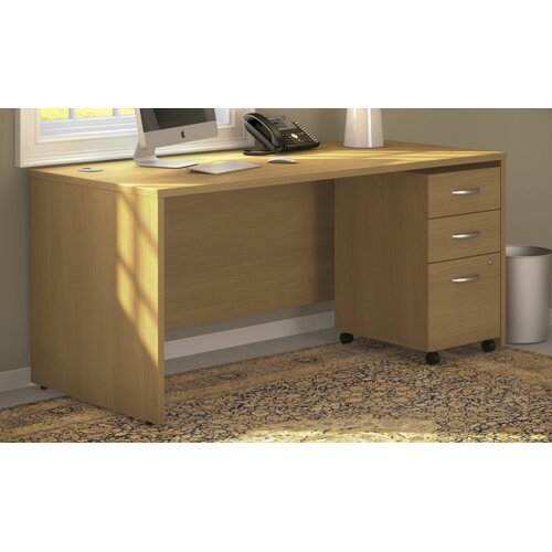 Series C Desk with 3 Drawer File