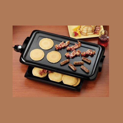 Nostalgia Electrics Griddle with Warming Drawer
