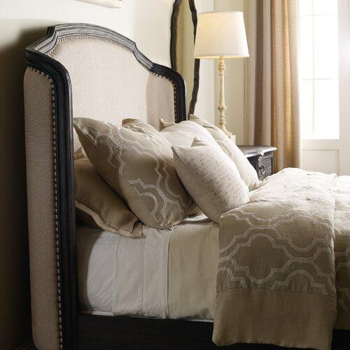 Hooker furniture corsica upholstered shelter headboard for Sofa natura 6650
