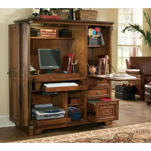 Hooker Furniture Brookhaven Armoire Desk & Reviews