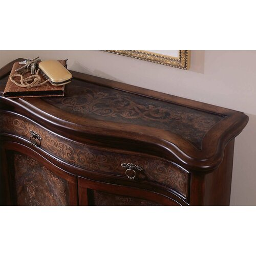 Hooker Furniture Seven Seas Brass Panel 1 Drawer Hall Chest