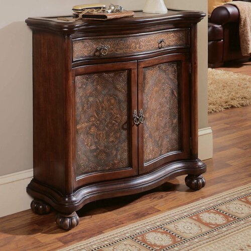 Seven Seas Brass Panel 1 Drawer Hall Chest