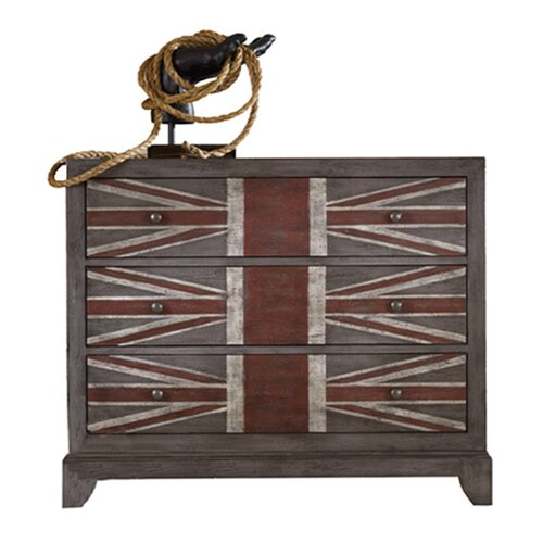 Hooker Furniture Melange Union Jack 3 Drawer Chest