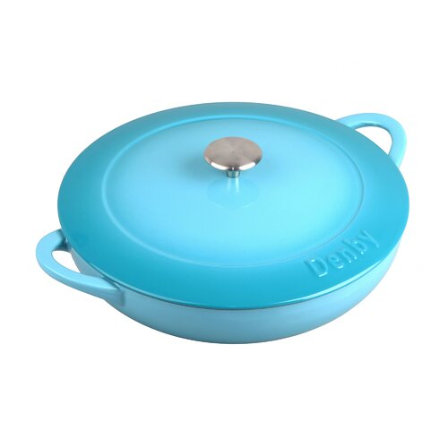 Cook and Dine 4-qt. Cast Iron Round Casserole