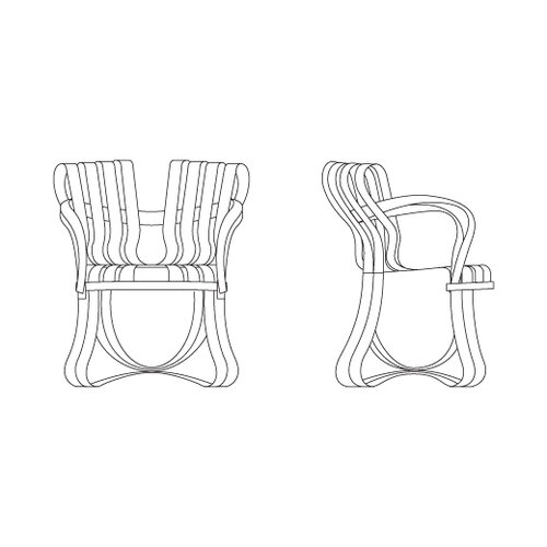 Knoll ® Frank Gehry Cross Check Armchair