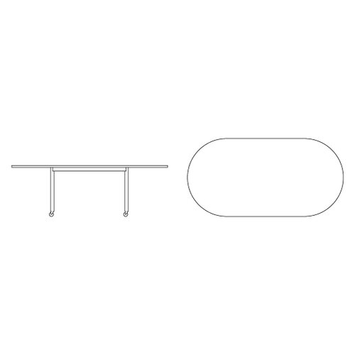"Knoll ® D'Urso 72"" Racetrack Work Table"