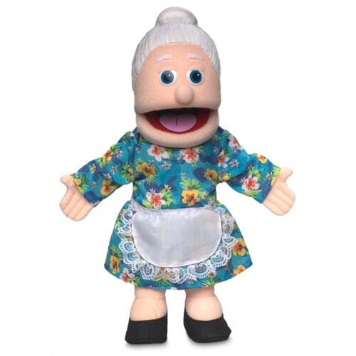 """Silly Puppets 14"""" Granny Glove Puppet in Peach"""