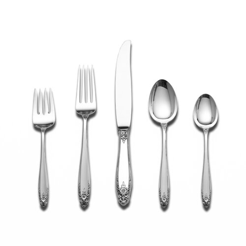 International Silver Sterling Silver Prelude 45 Piece Flatware Set