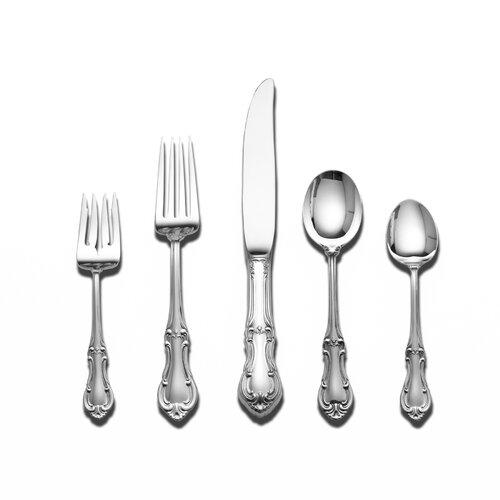 International Silver Sterling Silver Joan of Arc 46 Piece Dinner Flatware Set / Serving Setting