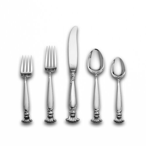 Wallace 46 Piece Romance of The Sea Dinner Flatware Set