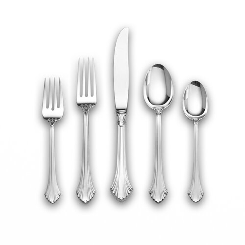 Sterling Silver French Regency 46 Piece Dinner Flatware Set